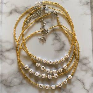 Harry Styles golden choker necklace